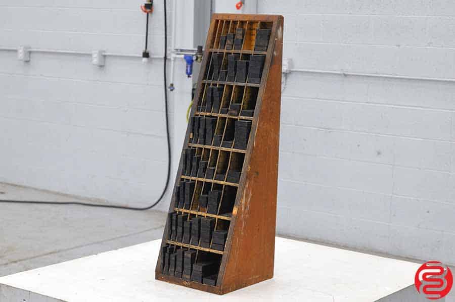 Letterpress Furniture Cabinet w/ Assorted Wood Furniture