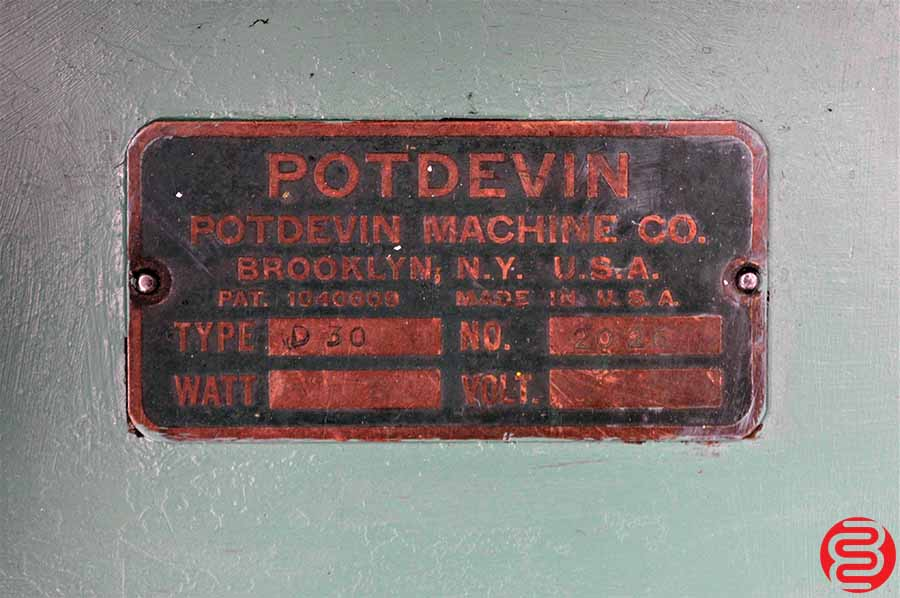 "Potdevin 30"" D30 Rotary Press"