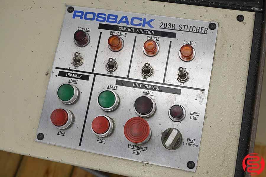 Rosback 203R Book Binding Saddle Stitcher