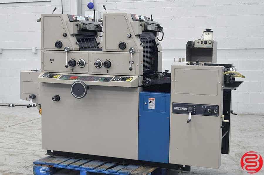 Ryobi 3302M Two Color Offset Printing Press w/ Crestline Dampening System