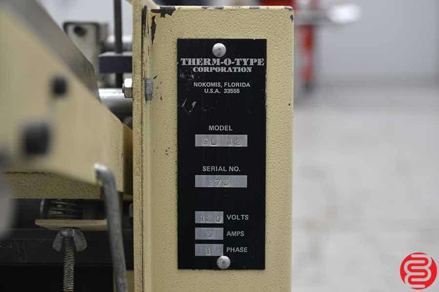 Therm-O-Type SL 12 Business Card Slitter