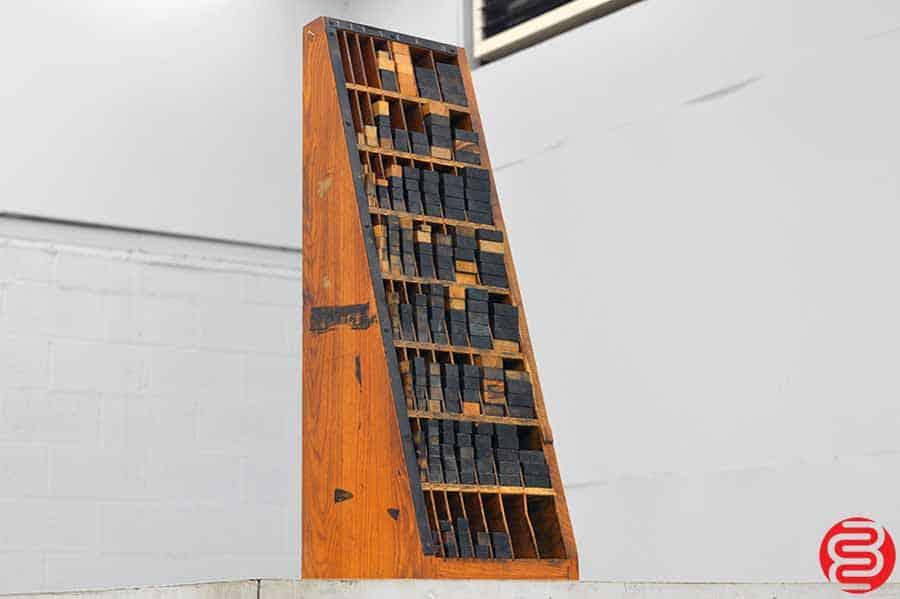 Thompson Furniture Cabinet w/ Assorted Wood Furniture