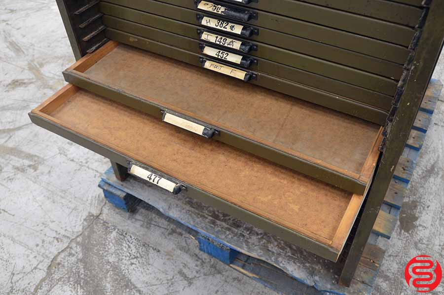 Two Hamilton Letterpress Type Cabinets