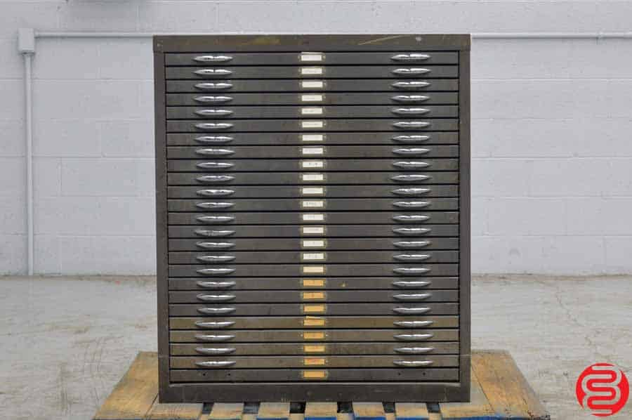 25 Drawer Flat File Cabinet - Blank Drawers - Perfect for Wood Type