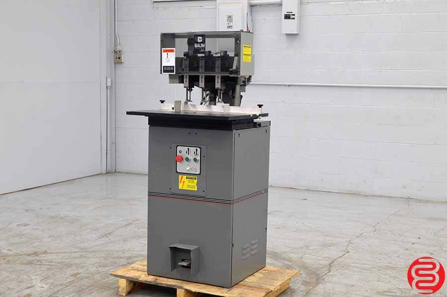 Baum ND-5A Three Spindle Hydraulic Paper Drill