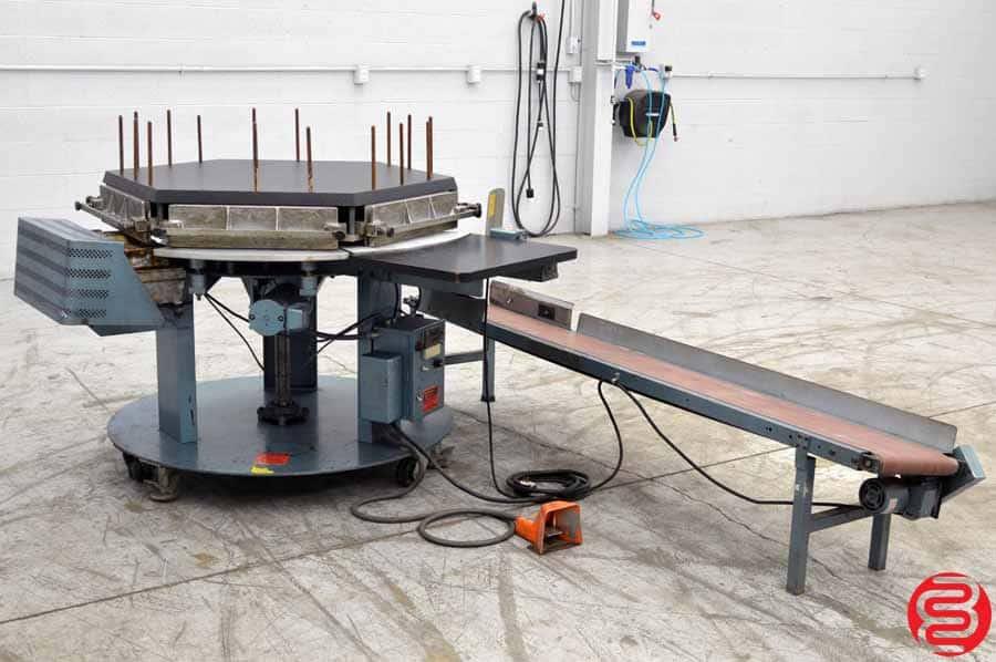 Brackett CPM1C Circular Padding Machine w/ Conveyor