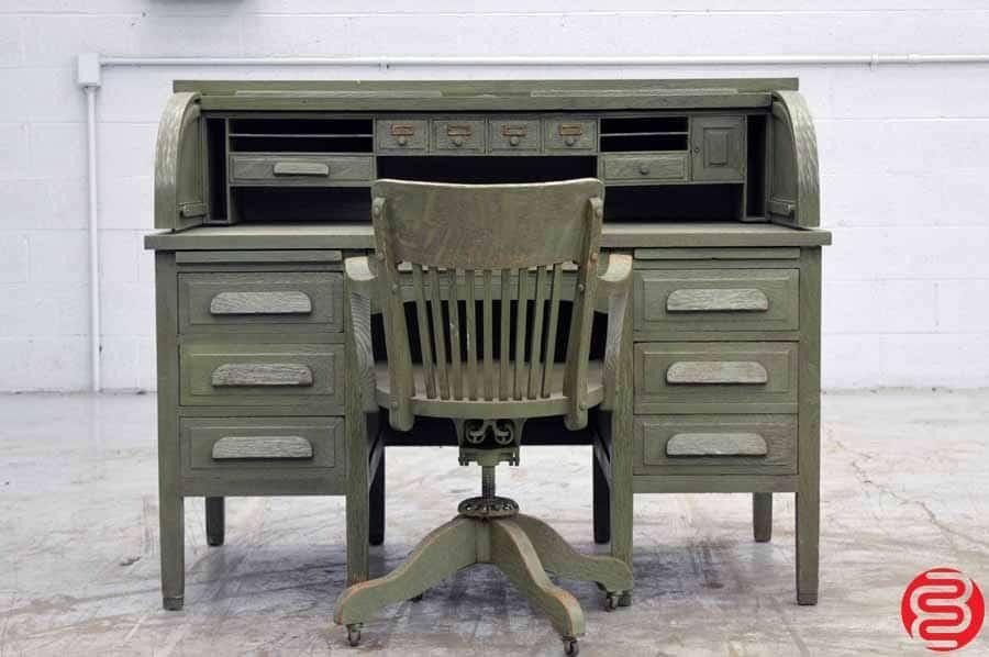 Cleveland Desk Company Antique Roll Top Desk
