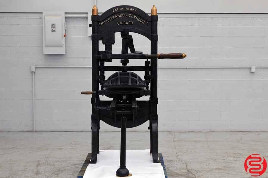 "Ostrander Seymour Extra Heavy ""Washington"" Style Letterpress"
