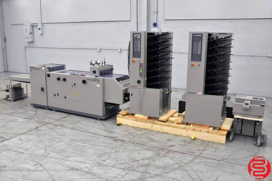 Horizon MC-80 16 Bin Booklet Making System w/ SPF-20 Booklet Maker, FC-20 Trimmer, and PJ-77 Jogger