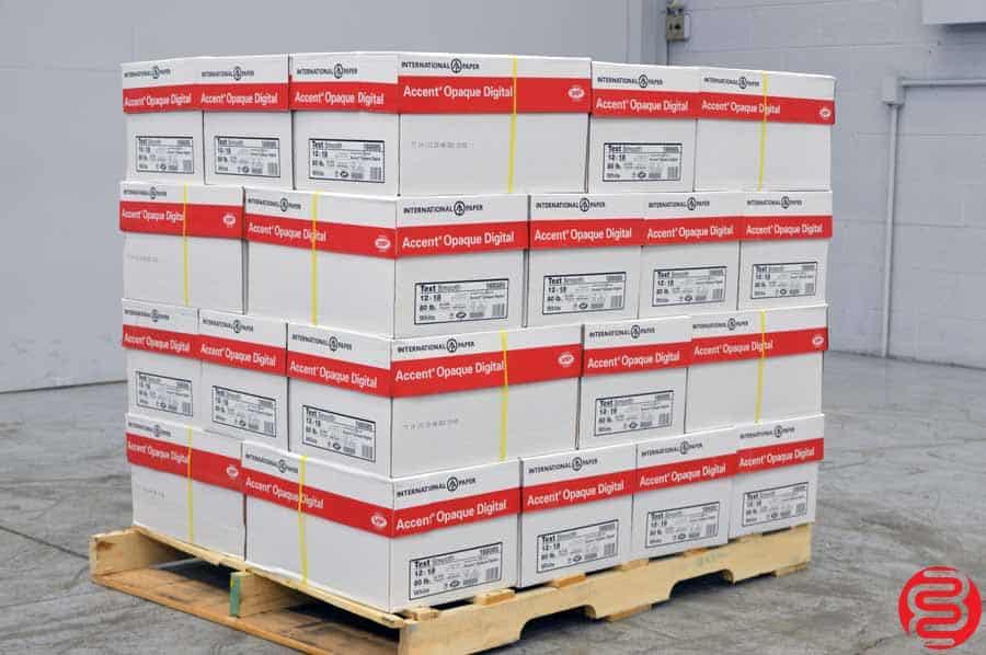 White 80 lb 12 x 18 Paper - Qty 32 Cases