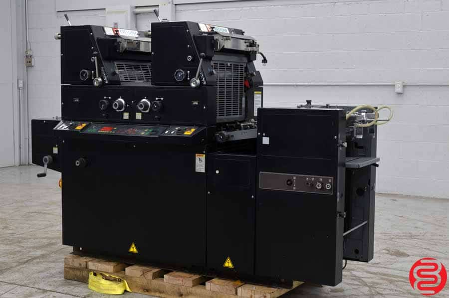 AB Dick 9985 Two Color Offset Printing Press w/ Crestline Dampening