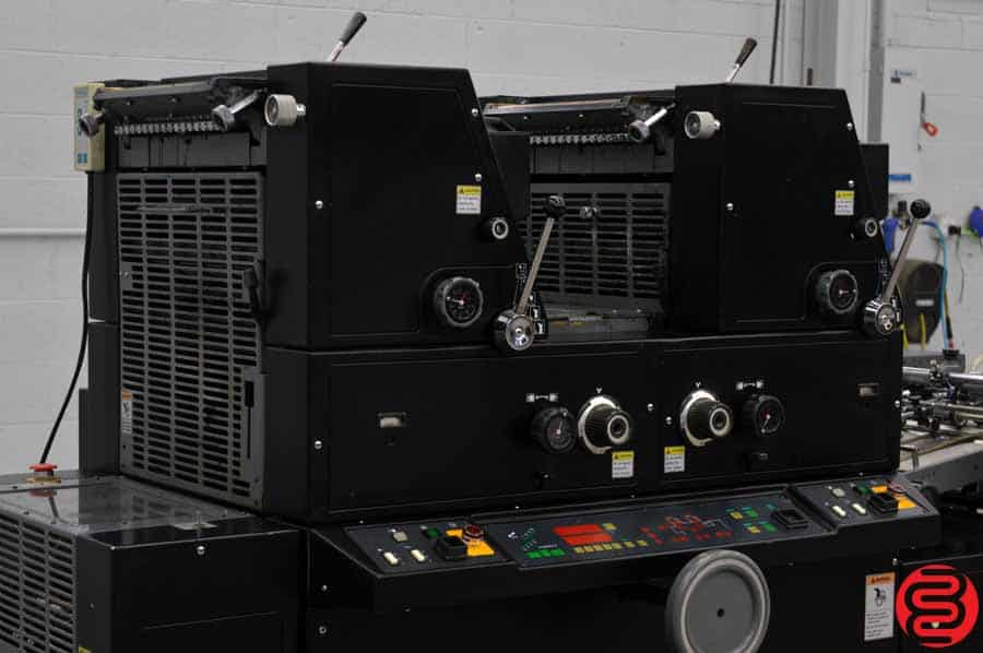 AB Dick 9985 Two Color Offset Press w/ Crestline Dampening System