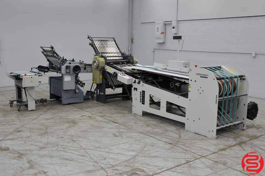 Heidelberg B26 4/4 Continuous Feed Paper Folder w/ 8 Page Unit and Mobile Delivery