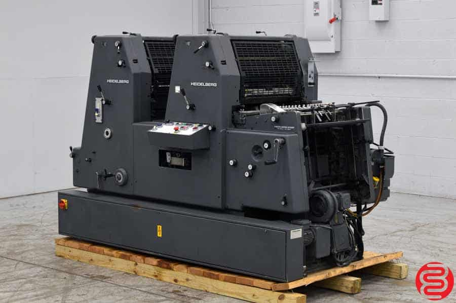 1990 Heidelberg GTOZ 52 Two Color Offset Press with Kompac Dampening