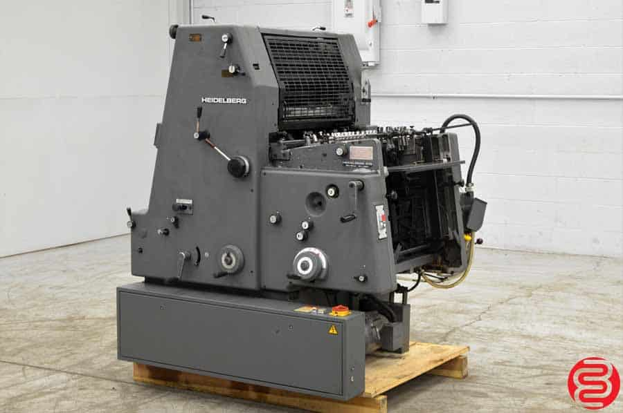 1990 Heidelberg GTO 52 One Color Offset Printing Press with Kompac Dampening