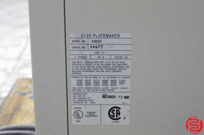 Itek Graphix Model 613S Platemaker