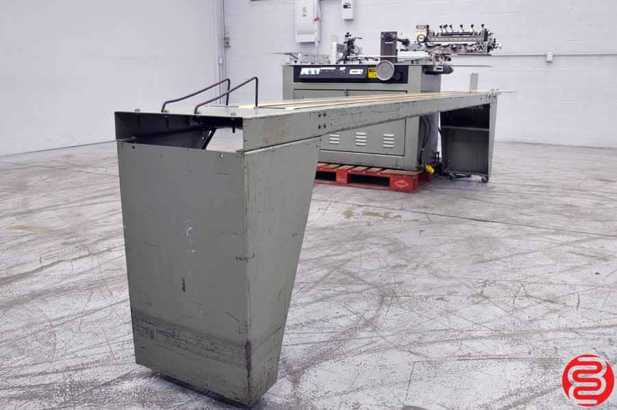 Kirk Rudy 215 Labeling System w/ Delivery Conveyor