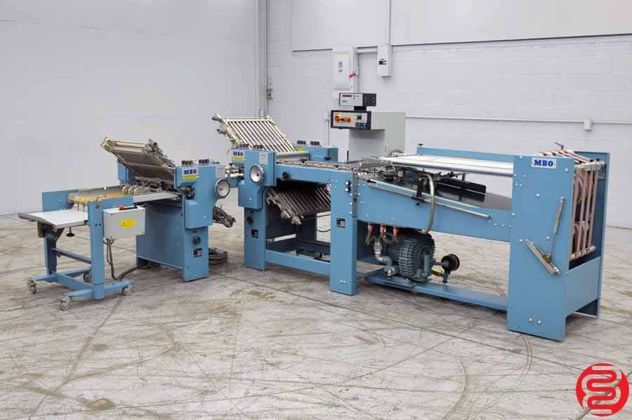 MBO B20 4/4 Continuous Feed Paper Folder w/ 8 Page Unit and Mobile Delivery