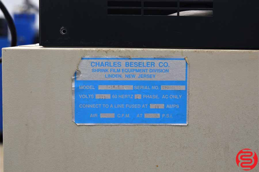 Beseler T14-8 Shrink Wrap System w/ Magnetic Hold Down and Power Take Away Conveyor