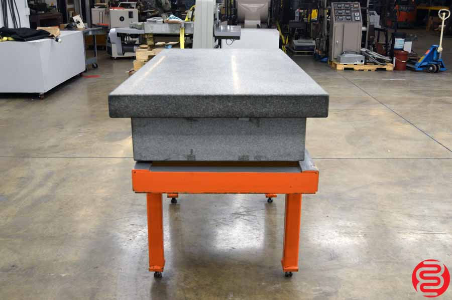 "Granite Inspection Surface Plate (36"" x 72"" x 12"") Grade A Four Ledge w/ Starrett Cover and Stand"