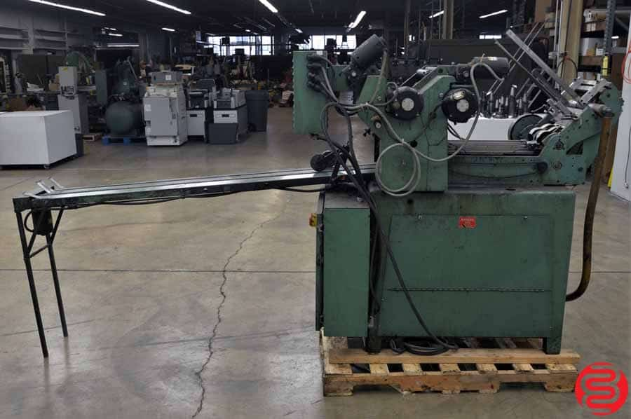 Halm Jet TWOD-P Two Color High Speed Envelope Press w/ Extended Delivery Conveyor
