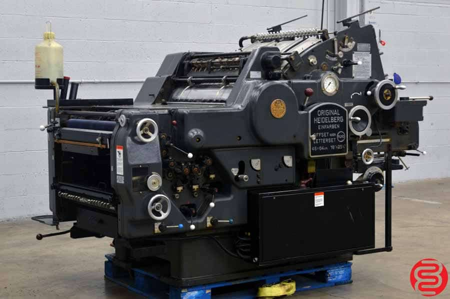 "Heidelberg KORD 18"" x 24 1/2"" (Grey Model) Offset Printing Press w/ Long Box"