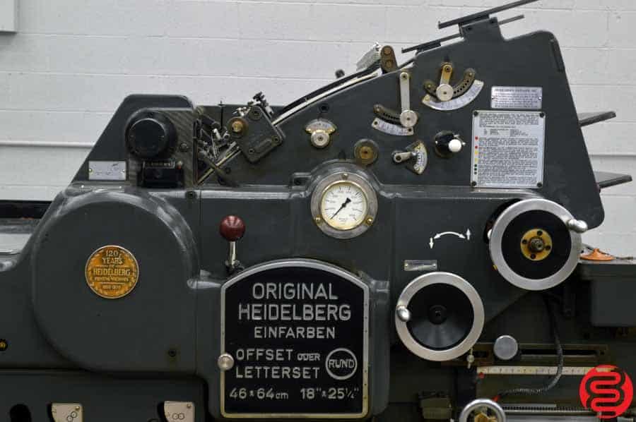 "Heidelberg KORD 18"" x 24 1/2"" (Grey Model) Offset Printing Press w/ Long Box"