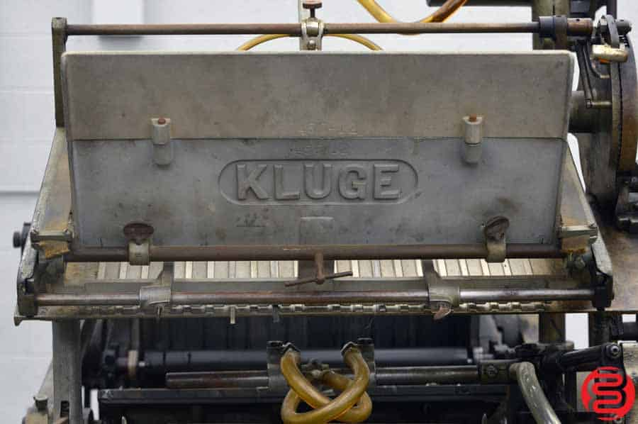 Kluge Automatic Platen Press / Embosser / Die Cutter