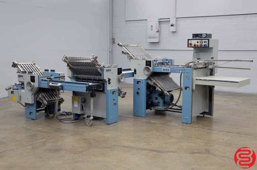 MBO T49 Pile Feed Paper Folder w/ 8 Page Unit, and 16 Page Unit