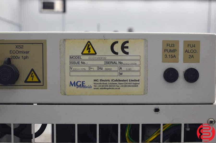 MGE Eco 15 Chiller for Dampening System