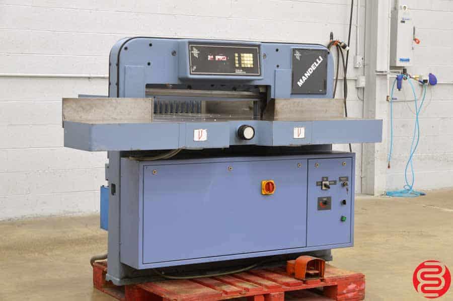 "Mandelli Star 100 Hydraulic Programmable 30"" Paper Cutter w/ Air Table"