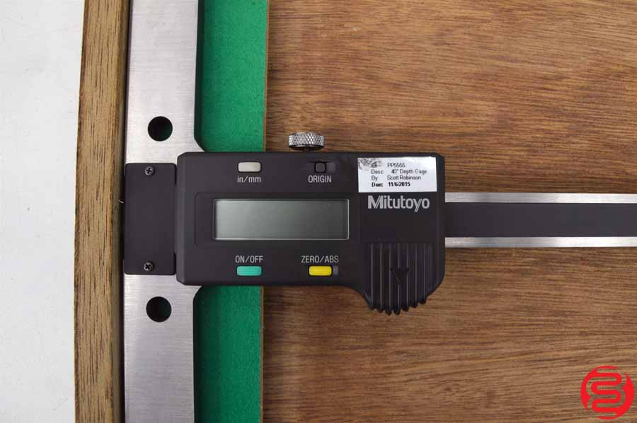 Mitutoyo 571-217-10 ABSOLUTE Digimatic LCD Depth Gage w/ Case