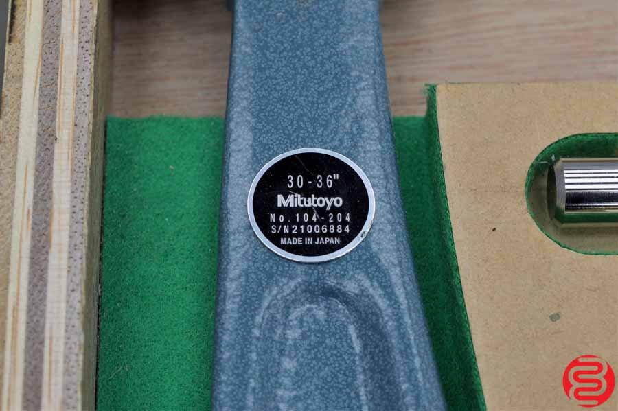 "Mitutoyo Series 104-204 30-36"" Outside Micrometer Set"