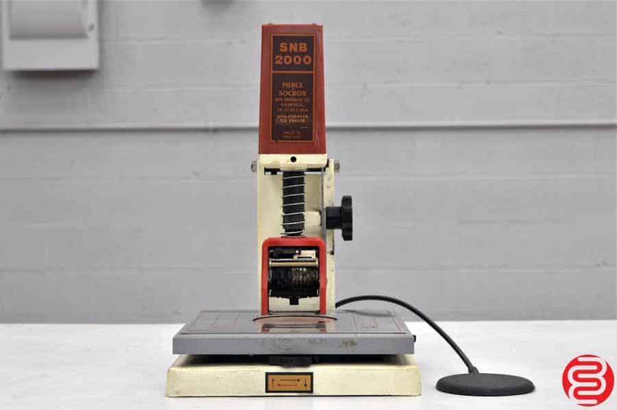 Pierce Socbox SNB 2000 Numbering Machine