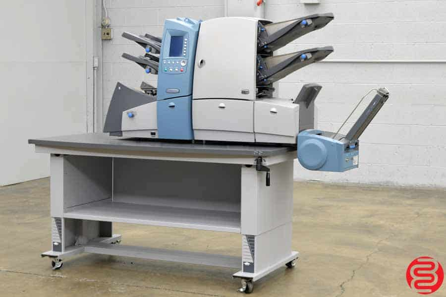 Pitney Bowes Fastpac DI600 Folding Inserting System w/ Vertical Stacker and Height Adjustable Table