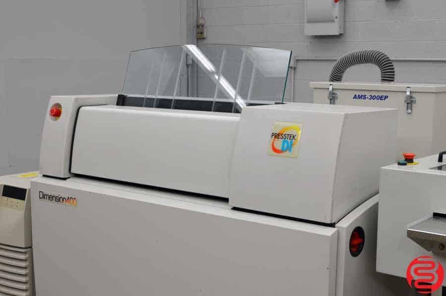 Presstek Dimension 400 Computer to Plate System w/ Anthem Plate Washer