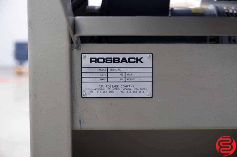 Rosback 220BV True Line Perf Slit Score Machine