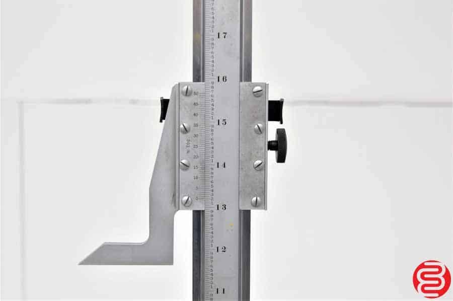 """Starrett 254EMZ Master Vernier 24"""" Height Gage With Case"""