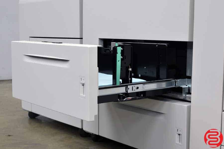 Xerox Nuvera 100 EA Production System Monochrome Digital Press w/ Standard Sheet-feed Module with Integrated Onboard Scanner, Two High Capacity Sheet-feed Modules, and Multifunction Finisher Pro-Plus