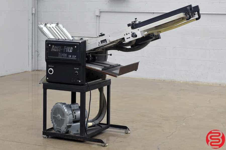 Accu-Fold Turbo Vacuum Feed Paper Folder