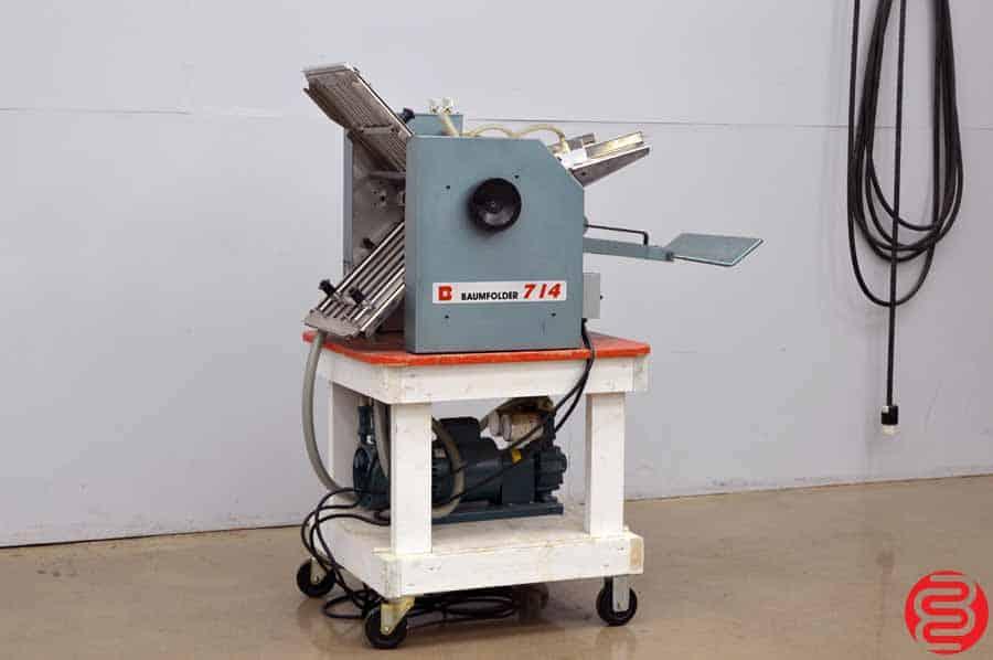 Baumfolder 714 14 x 20 Vacuum Feed Paper Folder