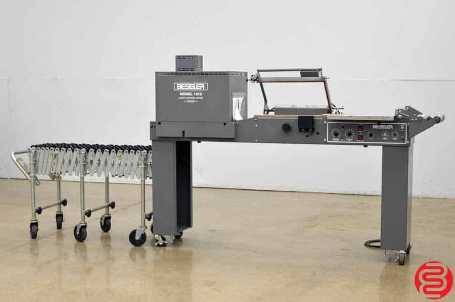 Beseler 1812 M Semi-Automatic Shrink Wrap System w/ Magnetic Hold Down, and Flexible Conveyor