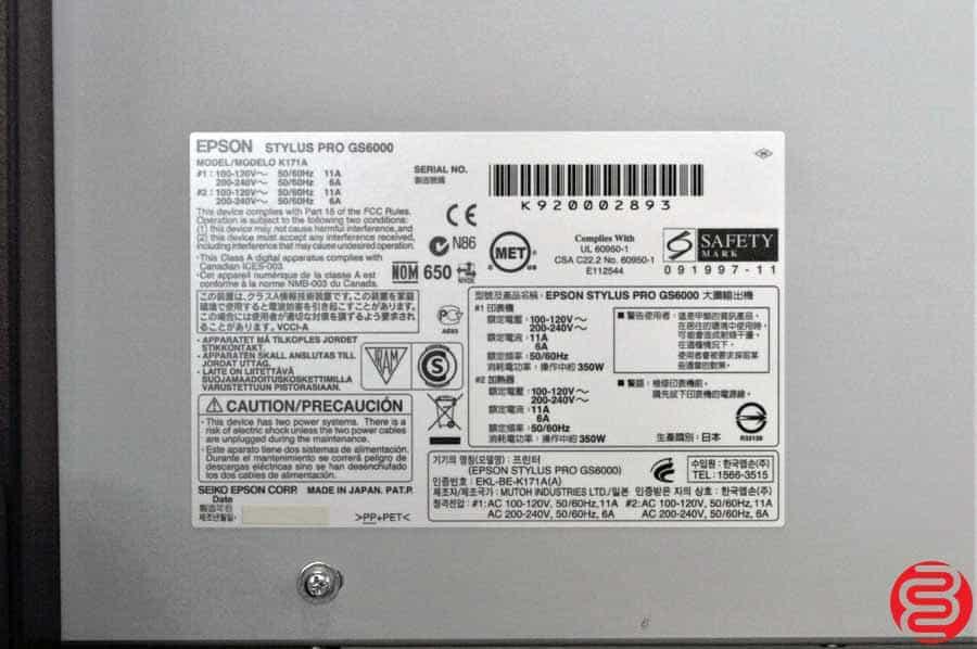"Epson Stylus Pro GS6000 64"" Wide Format Printer"