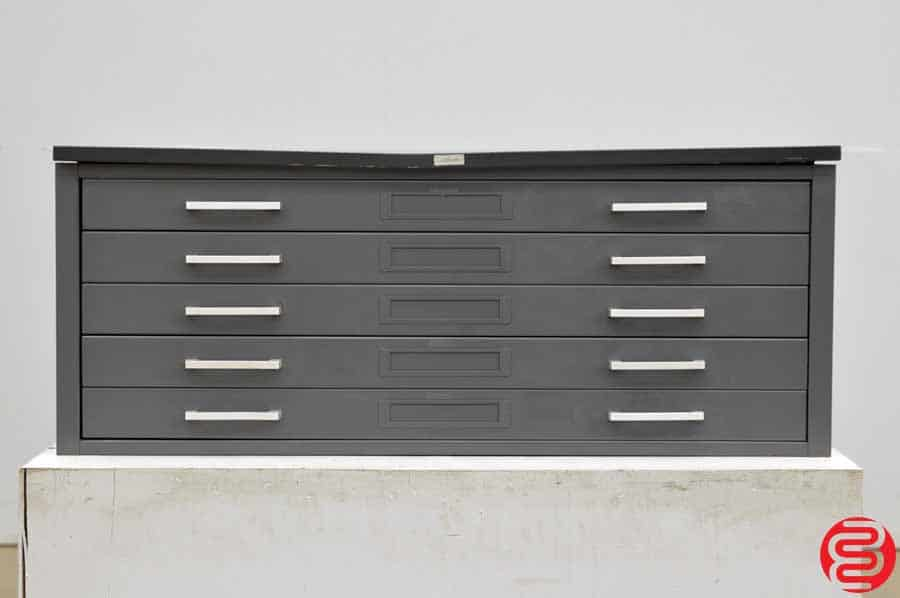 Hamilton Metal Flat Filing Cabinet - 5 Drawer