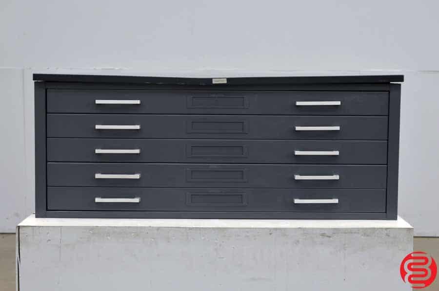 Hamilton Metal Flat Filing Cabinet - 5 Drawer