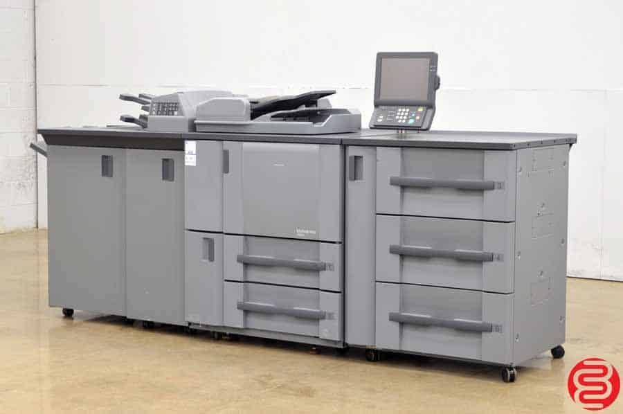 2007 Konica Minolta Bizhub 1050e Monochrome Digital Press w/ Staple Finisher, Folding Unit, and High Capacity Tray