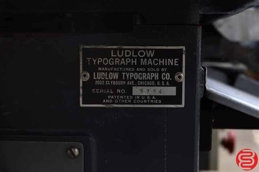 Ludlow Typograph Machine w/ Composing Stone, Ludlow Matrix Cabinet, and Assorted Wood Furniture