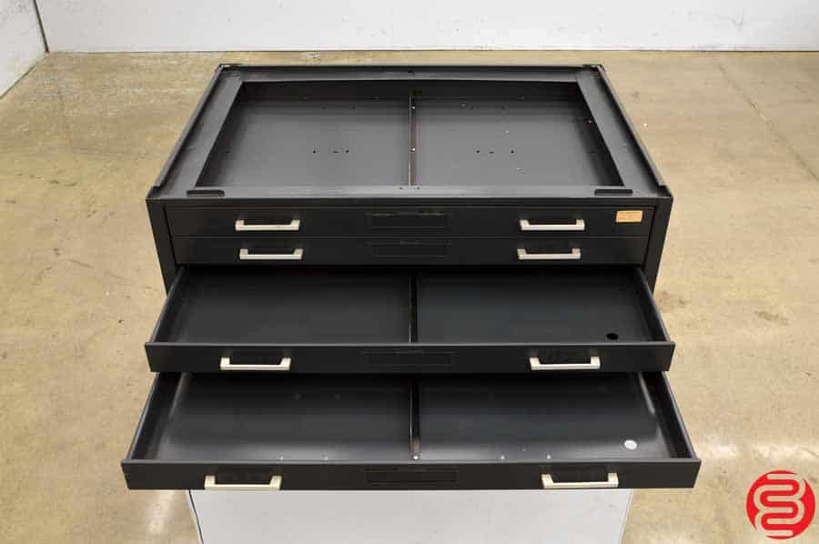 Metal Flat Filing Cabinet - 5 Drawers