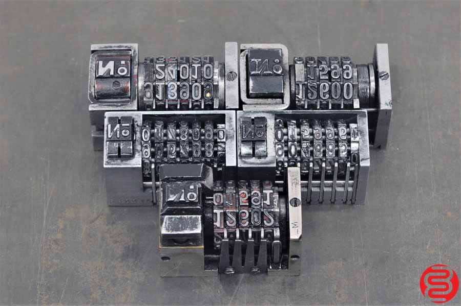 Numbering Machines - Qty 5