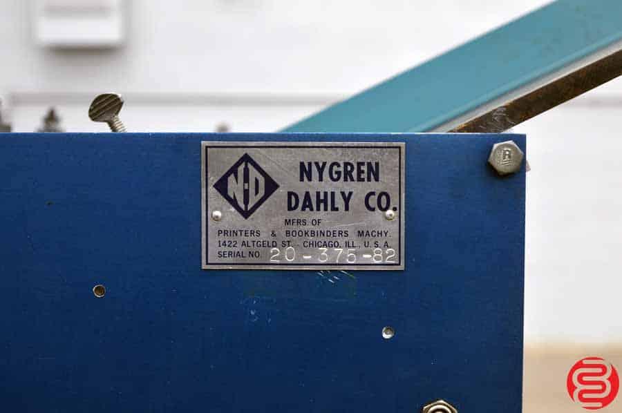 Nygren Dahly Perf Slit Score Machine